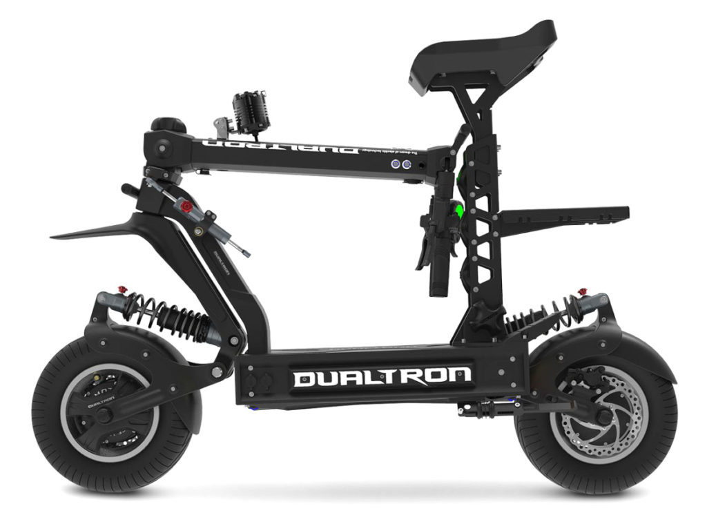 Picture of the Dualtron x2 Scooter folded up