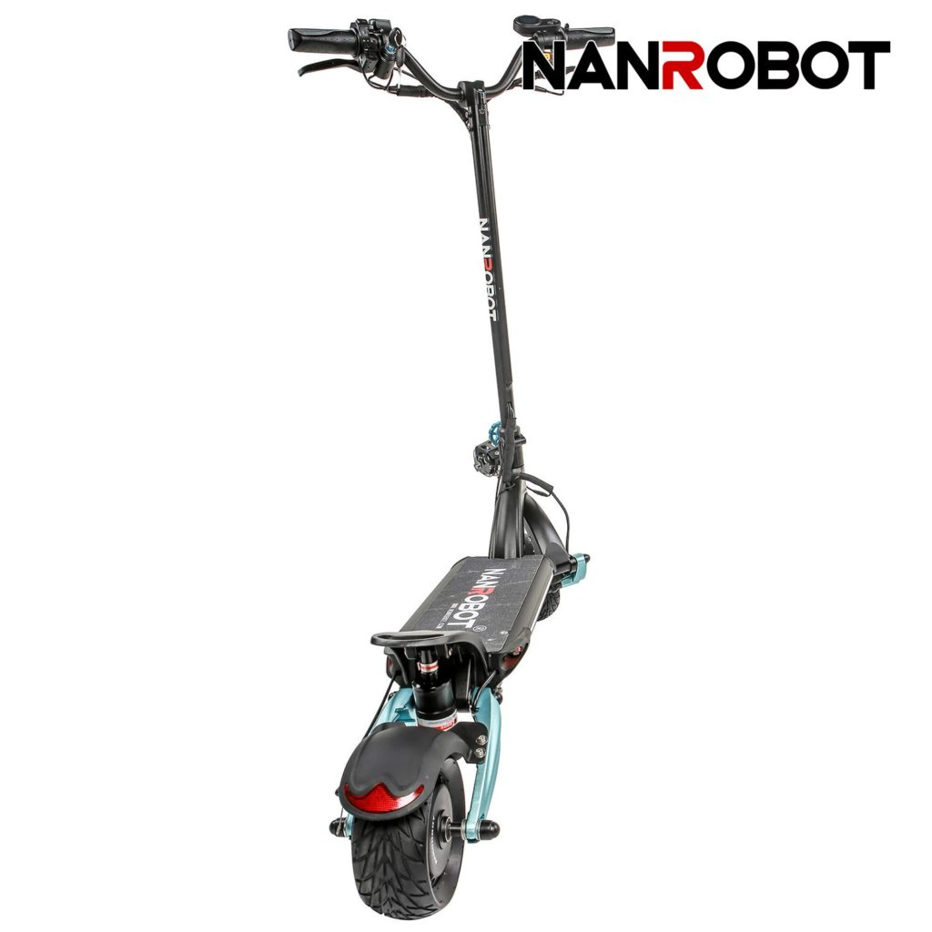 rear view of the nanrobot lightning electric scooter