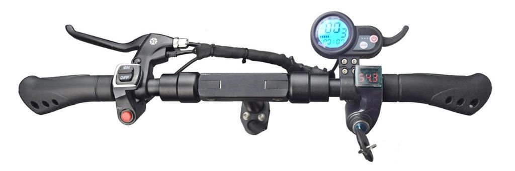 the controls on the Nanrobot handlebar