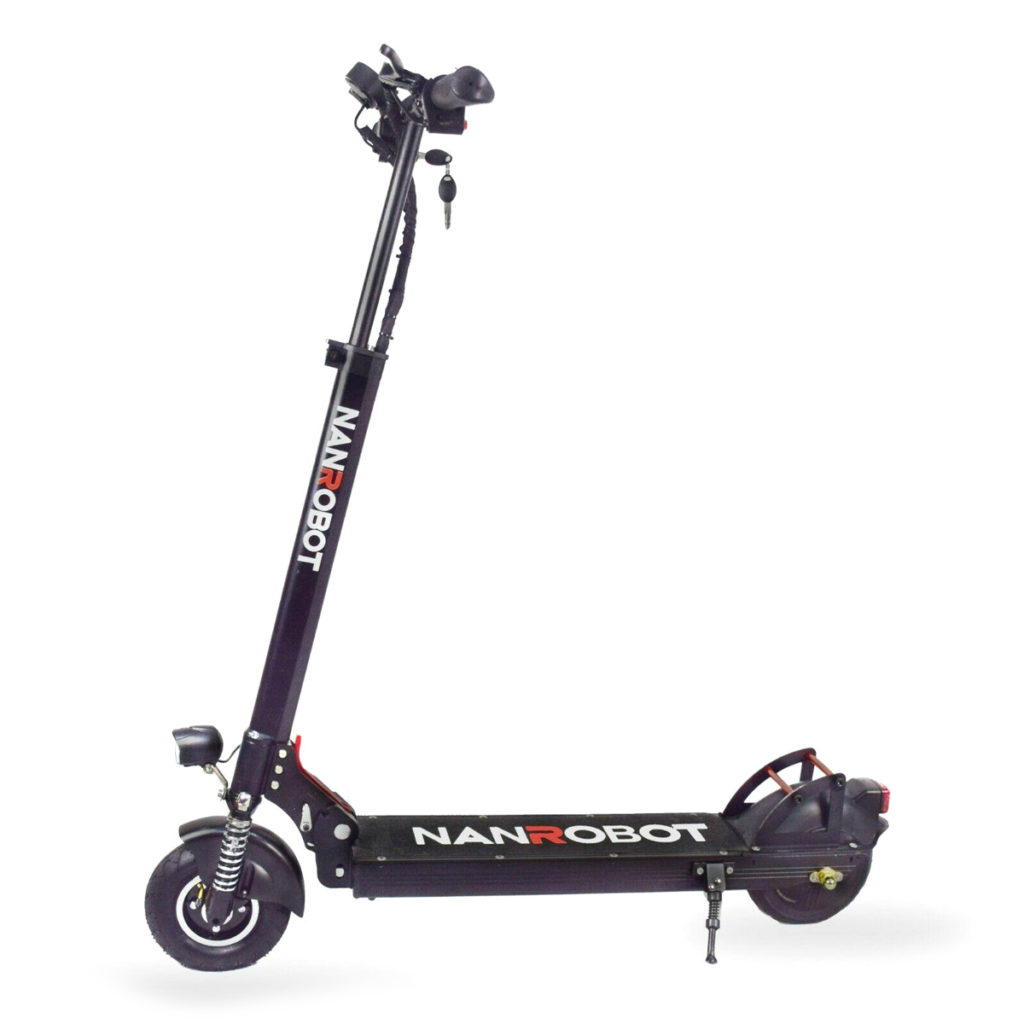 The side view of the Nanrobot e-scooter