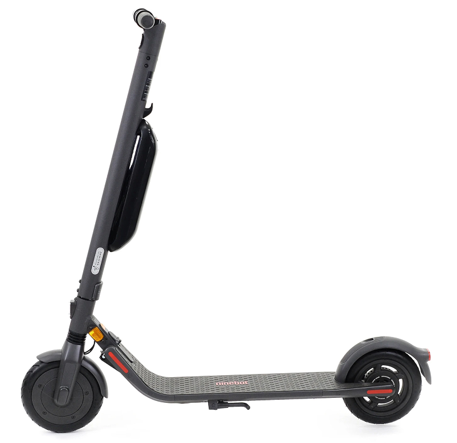 Picture of the side view of the Ninebot Segway E45E electric scooter