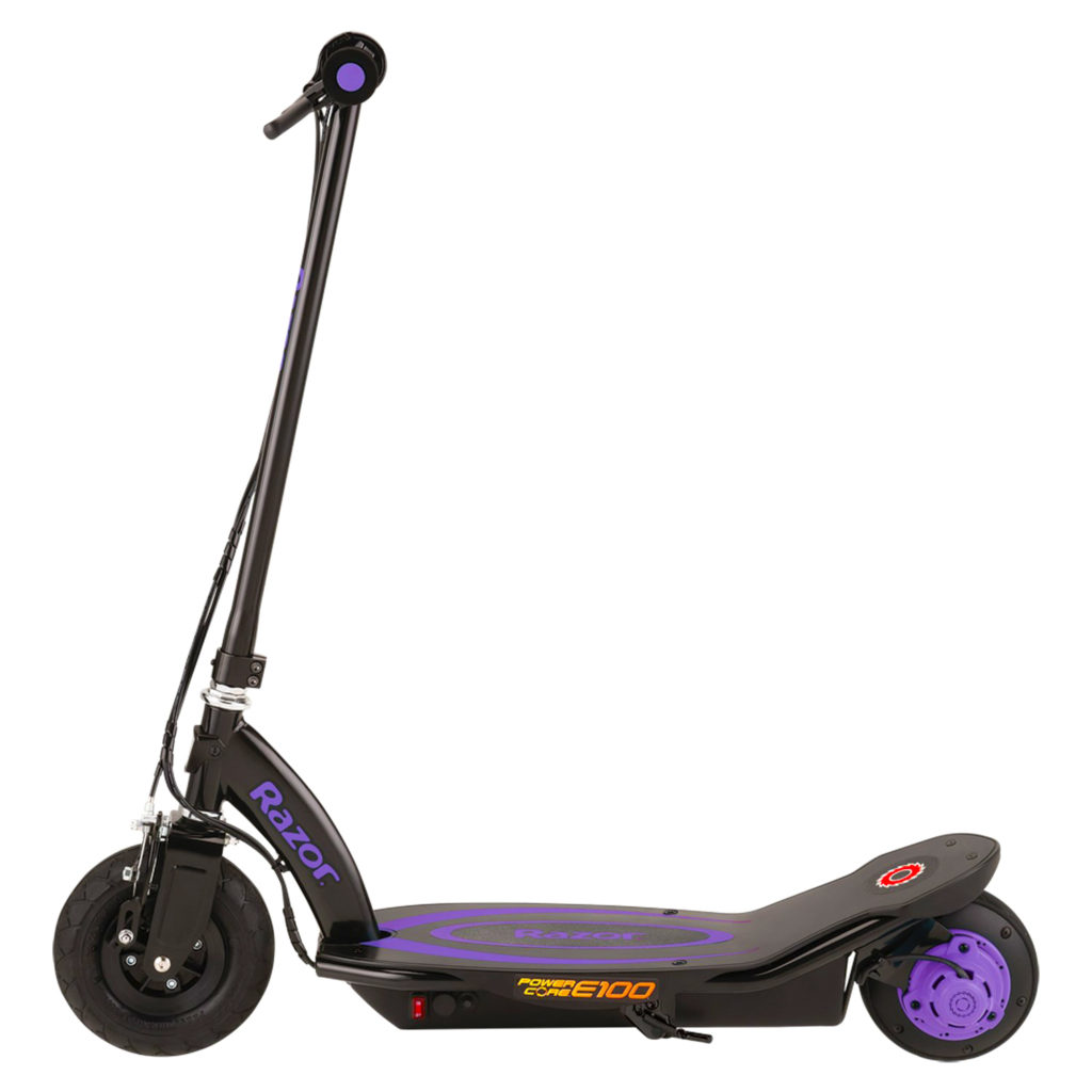 Side view of the Razor kids scooter image E100