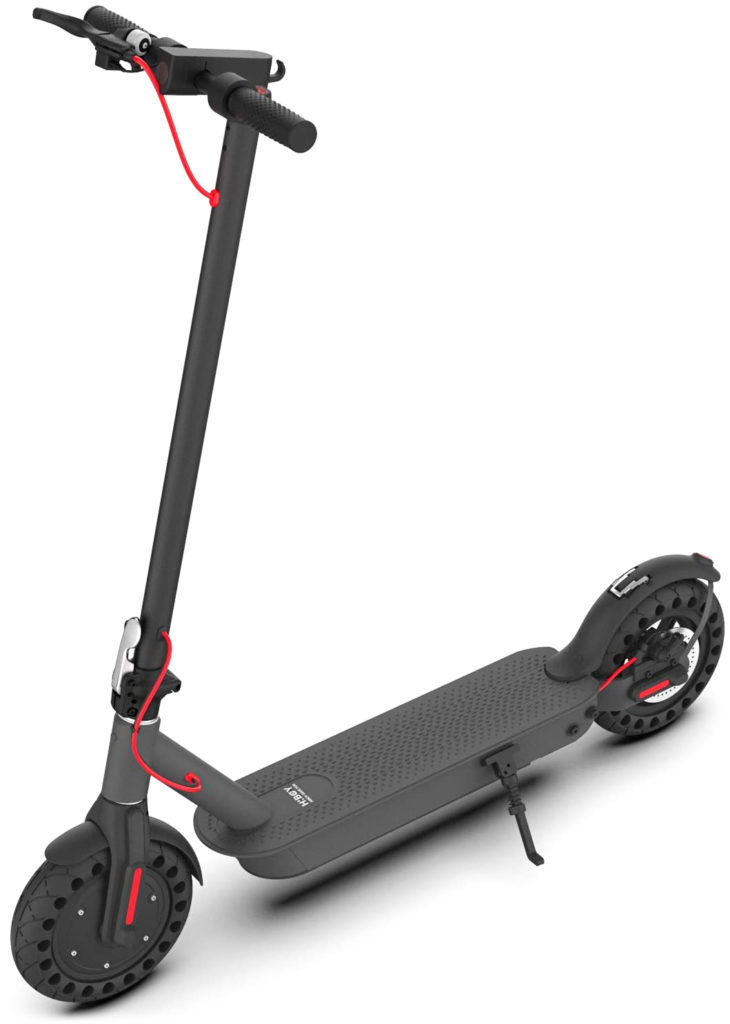 Standing image of the Hiboy S2 electric scooter