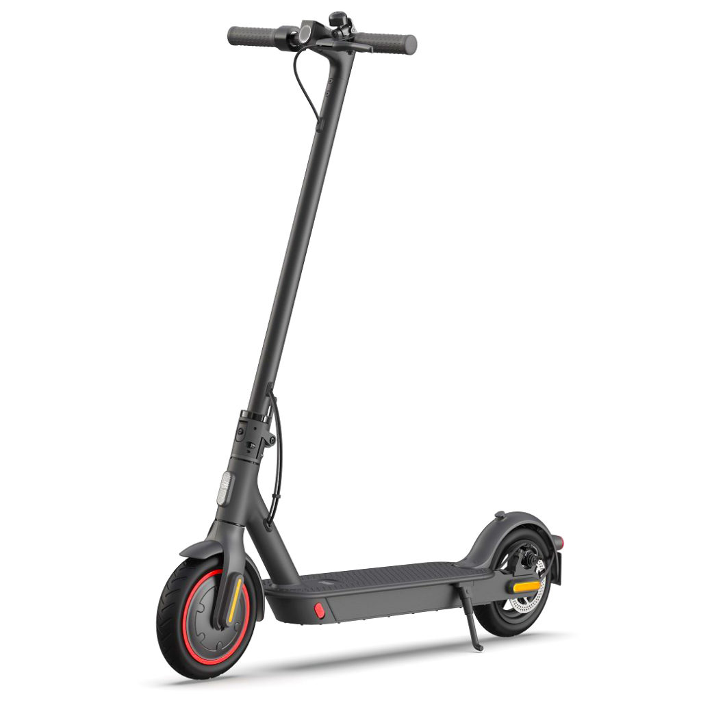 An image of the Xiaomi Pro 2 Electric Scooter standing upright
