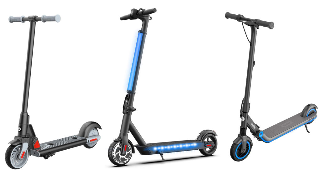 The main picture of 3 of the top electric scooters for kids