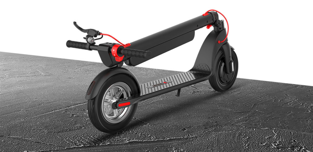 A folded up image of the Turboant X7 Pro electric scooter