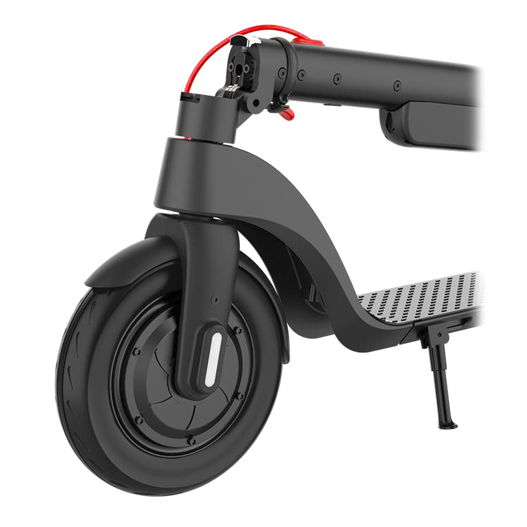The front wheel of the Turboant X7 Pro electric scooter