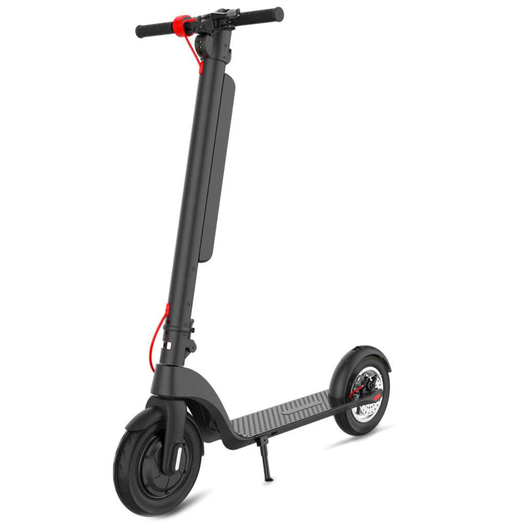A Turboant X7 Pro electric scooter standing upright.