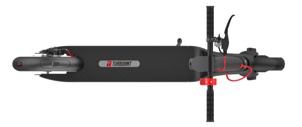 A top view image of the Turboant X7 Pro electric scooter
