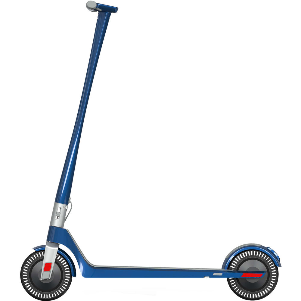 The side view of the Unagi Model One E500 electric scooter