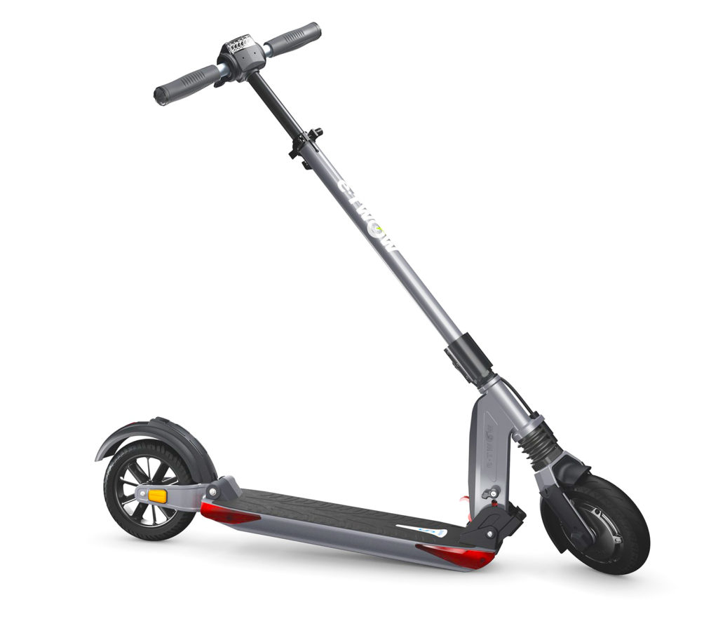 An image of the side view of the Uscooters Booster Sport electric scooter